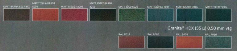 Választható MATT színek